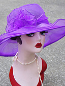 preiswerte Damenhüte-Damen Grundlegend,Gitter Sonnenhut Solide Sommer Rote Rosa Purpur