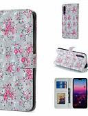 זול מגנים לטלפון-מגן עבור Huawei Huawei P20 Pro / Huawei P20 lite / Huawei P30 ארנק / מחזיק כרטיסים / עם מעמד כיסוי מלא פרח קשיח עור PU / P10 Lite