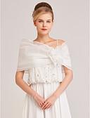 hesapli Gece Elbiseleri-Kolsuz Organze Düğün / Parti / Gece Kadın Eşarpları İle Çiçekli Boleros / Mini Pelerinler