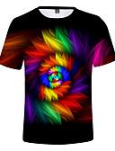 povoljno Majice za dječake-Veličina EU / SAD Majica s rukavima Muškarci 3D / Duga Okrugli izrez Print Duga / Kratkih rukava / Ljeto