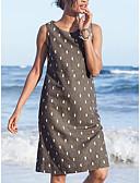 Χαμηλού Κόστους Γυναικεία Φορέματα-Γυναικεία Λεπτό Γραμμή Α Φόρεμα Ως το Γόνατο