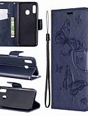 זול מגנים לטלפון-מגן עבור Samsung Galaxy A6 (2018) / A6+ (2018) / Galaxy A7(2018) ארנק / מחזיק כרטיסים / עמיד בזעזועים כיסוי מלא פרפר קשיח עור PU