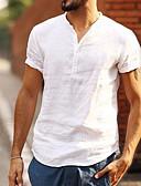 cheap Men's Shirts-Men's Daily Basic T-shirt - Solid Colored Black US40