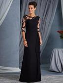 preiswerte Abendkleider-A-Linie Schmuck Boden-Länge Spitze See Through Formeller Abend Kleid mit durch LAN TING Express