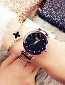 זול שעונים-בגדי ריקוד נשים שעון מכני קווארץ מתכת אל חלד עמיד במים אנלוגי יום יומי - שחור סגול זהב ורד