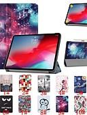 זול מגנים לאייפון-מגן עבור Apple iPad Pro 11'' עמיד בזעזועים / נפתח-נסגר / אולטרה דק כיסוי מלא שמיים / נוף / פרח קשיח עור PU