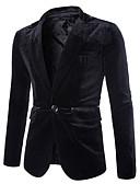 זול חליפות-בורגנדי / שחור / סגול אחיד גזרה רגילה פוליאסטר חליפה - פתוח Single Breasted One-button
