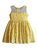 זול שמלות לבנות-שמלה מידי ללא שרוולים תחרה אחיד סגנון חמוד בנות ילדים / כותנה
