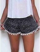 hesapli Şortlar-Kadın's Temel Şortlar Pantolon - Spot Desen Siyah YAKUT M L XL