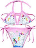 זול בגדי ים לבנות-בגדי ים ללא שרוולים דפוס Unicorn פעיל בנות ילדים