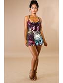 povoljno Ženski jednodijelni kostimi-Žene Boho Duga Odjeća za igru, Duga Šljokice M L XL