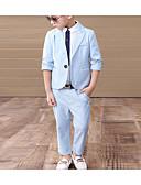 זול ז'קטים-ורוד מסמיק / כחול סקיי כותנה חליפה לנושא הטבעת  - 1set כולל אביזרים