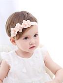 זול ילדים אביזרים לשיער-מידה אחת לבן / ורוד מסמיק אביזרי שיער שיפון פרח אחיד / פרחוני פעיל / בסיסי / מתוק בנות פעוטות / עולל / תינוק