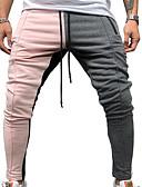 halpa Miesten housut ja shortsit-Miesten Perus Chinos housut Housut - Värikäs Rubiini Punastuvan vaaleanpunainen Keltainen M L