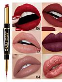 halpa Huulipunat-brändi dnm kaksinkertainen pää huulipuna huulirakenne monitoiminen helmi matta huulipuna kynä vedenpitävä pitkäkestoinen huuli meikki