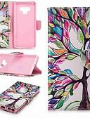 Недорогие Чехлы для телефонов-Кейс для Назначение SSamsung Galaxy Note 9 / Note 8 Кошелек / Бумажник для карт / со стендом Чехол дерево Твердый Кожа PU