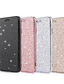 hesapli iPhone Kılıfları-Pouzdro Uyumluluk Apple iPhone XS / iPhone XR / iPhone XS Max Cüzdan / Kart Tutucu / Şoka Dayanıklı Tam Kaplama Kılıf Solid / Işıltılı Parlak Yumuşak PU Deri
