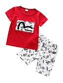 זול סטים של ביגוד לתינוקות-סט של בגדים שרוולים קצרים דפוס בנים תִינוֹק