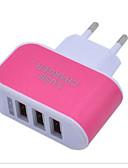 billige Kabler og Lader til mobiltelefon-LITBest Stasjonær lader USB-lader Eu Plugg Normal 3 USB-porter 3.1 A 100~240 V til