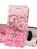 זול מגנים לטלפון-מגן עבור Samsung Galaxy S9 / S9 Plus / גלקסי S10 ארנק / מחזיק כרטיסים / עמיד בזעזועים כיסוי מלא מילה / ביטוי קשיח עור PU