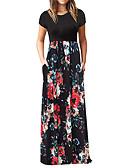 זול שמלות מקסי-מקסים, שמלת נשים, יין, סומק, ורוד, שחור, מ, l, xl