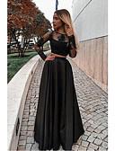 זול שמלות שושבינה-גזרת A עם תכשיטים עד הריצפה טפטה ערב רישמי שמלה עם אפליקציות על ידי JUDY&JULIA