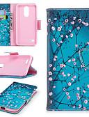 Недорогие Чехлы для телефонов-Кейс для Назначение LG LG K10 2018 / LG K10 (2017) / LG K10 Бумажник для карт / со стендом / Флип Чехол Пейзаж / Животное / Мультипликация Твердый Кожа PU / Настоящая кожа