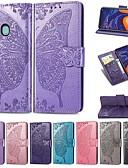 Недорогие Чехлы для телефонов-Кейс для Назначение SSamsung Galaxy Galaxy A7(2018) / Galaxy A10 (2019) / Galaxy A30 (2019) Кошелек / Бумажник для карт / Защита от удара Чехол Однотонный / Бабочка Твердый Кожа PU