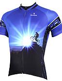 hesapli Mini Elbiseler-ILPALADINO Erkek Kısa Kollu Bisiklet Forması Sarı Kırmzı Mavi Bisiklet Forma Üstler Nefes Alabilir Hızlı Kuruma Ultravioleye Karşı Dayanıklı Spor Dalları Polyester %100 Polyester Terylene Da / Streç