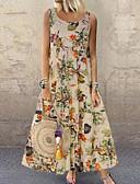 povoljno Maxi haljine-Žene Veći konfekcijski brojevi Širok kroj Swing kroj Haljina - Print, Cvjetni print Maxi