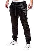זול טרנינגים וקפוצ'ונים לגברים-בגדי ריקוד גברים בסיסי מכנסי טרנינג מכנסיים - אחיד שחור אפור כהה M L