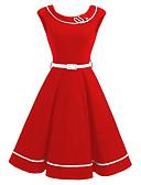 cheap Vintage Dresses-Women's Basic Sheath Dress - Solid Colored Black Red Navy Blue XXXL XXXXL XXXXXL