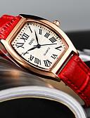 זול שעונים קוורץ-בגדי ריקוד נשים קווארץ עתיקה אופנתי שחור לבן אדום דמוי עור Chinese קווארץ לבן שחור אודם שעונים יום יומיים יחידה 1 אנלוגי