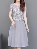 povoljno Ženske haljine-Žene Elegantno A kroj Haljina - Print, Geometrijski oblici Do koljena