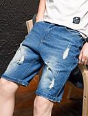 halpa Miesten housut ja shortsit-Miesten Perus Shortsit Housut - Yhtenäinen Laivaston sininen Vaalean sininen US40 US42 US44