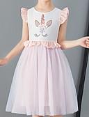 זול שמלות לבנות-שמלה עד הברך ללא שרוולים דפוס אחיד ורד מאובק פעיל בנות ילדים