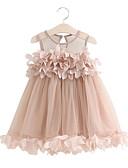 זול שמלות לבנות-שמלה מעל הברך שרוול ארוך אחיד ורד מאובק בנות ילדים
