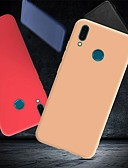 זול מגנים לטלפון-מגן עבור Huawei Y9 (2018)(Enjoy 8 Plus) / Y7 Prime (2018) / Huawei Y7 Pro (2019) עמיד בזעזועים / אולטרה דק / מזוגג כיסוי אחורי אחיד רך TPU