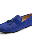 זול תחתוני גברים אקזוטיים-בגדי ריקוד גברים מוקסין סינטטיים אביב / סתיו נעליים ללא שרוכים נושם אדום / כחול / חום בהיר