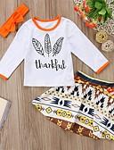 זול אוברולים טריים לתינוקות-סט של בגדים שרוול ארוך דפוס בנות תִינוֹק