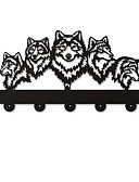 cheap Girls' Tops-Wolf decorative wall hanger wolf family clothes wall hook coat rack