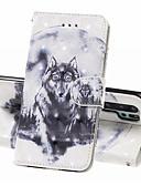 זול מגנים לטלפון-מגן עבור Huawei Huawei P20 Pro / Huawei P20 lite / Huawei P30 ארנק / מחזיק כרטיסים / עמיד בזעזועים כיסוי מלא חיה קשיח עור PU
