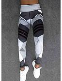 halpa Bikinis-Naisten Urheilullinen Leggingsit - Geometrinen, Painettu Korka vyötärö Valkoinen Musta M L XL / Ohut