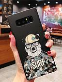 זול מגנים לטלפון-מגן עבור Samsung Galaxy S9 / S9 Plus / S8 Plus זוהר בחושך / מזוגג / תבנית כיסוי אחורי מילה / ביטוי קשיח PC
