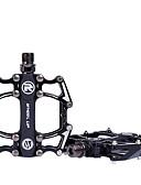 זול חליפות לנושאי הטבעת-Wheel up אופני הרים שטוח ופלטפורמה קל משקל נגד החלקה עמיד 3 נשיאה Aluminum Alloy ל רכיבת אופניים אופני כביש אופני הרים רכיבת פנאי שחור