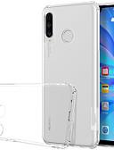 זול מגנים לטלפון-מגן עבור Huawei Huawei P30 לייט עמיד בזעזועים / שקוף כיסוי אחורי שקוף רך TPU