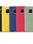 זול מגנים לטלפון-מגן עבור Huawei Mate 10 lite / Huawei Mate 20 lite / Huawei Mate 20 pro מזוגג כיסוי אחורי אחיד רך TPU