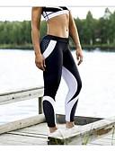 זול טייצים-בגדי ריקוד נשים לבוש ליום Temel צועד - דפוס, דפוס מותניים גבוהים לבן שחור M L XL / רזה