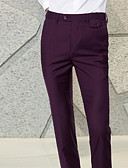 hesapli Pantolonlar-Erkek Temel Takım Elbise / Chinos Pantolon - Solid Açık Mavi Açık Gri Navy Mavi XL XXL XXXL