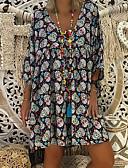 povoljno Print Dresses-Žene Boho Shift Haljina Geometrijski oblici Do koljena